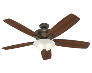 Hunter Regalia II 60 in. Indoor New Bronze 5-Blade Ceiling Fan w/ LED Light NEW