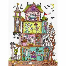 BOTHY THREADS CUT THRU HAUNTED HOUSE CROSS STITCH KIT - NEW AMANDA LOVERSEED