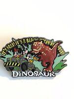 WDW 2002 Dinosaur With Fab 4 Mickey Minnie Pluto Goofy Free D Disney Pin (B9)