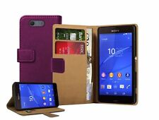 Wallet MAGENTA Leather Flip Case Cover Pouch For Sony Xperia Z3 COMPACT experia
