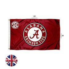 More details for alabama crimson tide flag  american college football sec 3x5 ft flag new