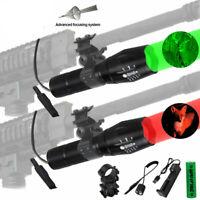 450 Yards Red/Green/White Light LED Flashlight for Varmint Coyote Hog Hunting