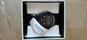 Fossil Gen 5E 44mm Stainless Steel Case with Silicone Strap Smart Watch for Men