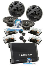"pkg SOUNDSTREAM AR4.1200 4-CHANNEL AMPLIFIER + 2 sets SPL AS-60C 6.5"" COMPONENT"