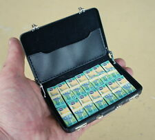 1/6 scale miniature briefcase with cash Australian $100 banknotes