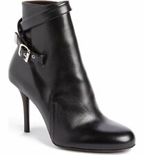 *BNIB* CHLOÉ - Scott Buckle Black Leather Ankle Boots - 37