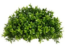 One 13 inch Outdoor Artificial Half Boxwood Long Leaf Topiary Ball Bush Tree