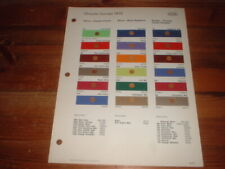 1976 GENUINE PAINT SWATCHES,CHRYSLER EUROPE / UK, IMP SPORT,,RAPIER,SIMCA RALLYE