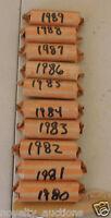 QB03 1987   WASHINGTON QUARTER 40 COINS (MIXED P,D)  CIRCULATED  ROLL