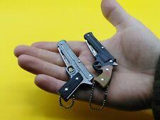 Mini Couteau pliant pistolet revolver porte clefs