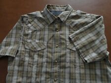 Northwest Territory Short Sleeve Men M Western Casual Shirt Plaid Cotton