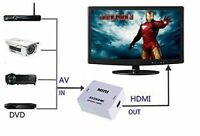 Mini RCA AV to HDMI Converter Adapter Composite AV2HDMI Convorter 1080P DVD GB