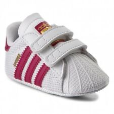 adidas Originals Superstar Crib White/bold Pink Mesh Soft Soles 3 US Toddler