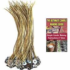 8 Inch Organic Hemp Candle Wicks (100 Pcs), Pretabbed, Pre-Waxed By 100% Natural