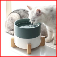 Wooden Shelf Ceramic Feeding and Drinking Bowls  Dogs Cats Pet Feeder Accessorie