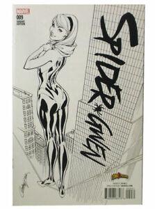 Spider-Gwen #9 Black & White Variant ComicXposure J Scott Campbell Marvel