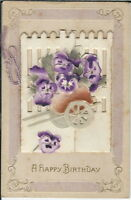 AI-037 - A Happy Birthday, with opening Front, 1907-1915 Golden Age Postcard