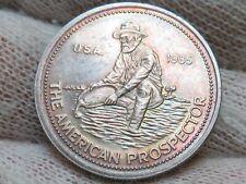 1985 Engelhard The American Prospector USA 1/4 oz .999 Silver Round  TONED