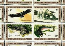 1971- WILDLIFE CONSERVATION- #1427-30 Full Mint -MNH- Sheet of 32 Postage Stamps