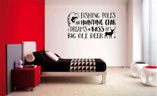 FISHING POLES AND HUNTING GEAR NURSERY WALL DECAL LAKE CABIN VINYL WALL SIGN