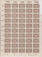 DR Mi Nr. 254 ** HAN kompletter Bogen, Ziffer Infla 1922, postfrisch, MNH