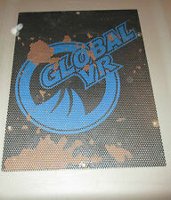"GLOBAL VR NEED FOR SPEED ARCADE DRIVER SEAT SUBWOOFER GRILLE ""GLOBAL VR"" LOGO"
