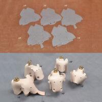 5 Pcs PVC Leather Template Animal DIY Sewing Pattern Stencil Craft Making Tool