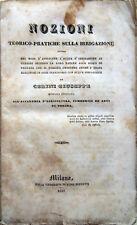 1837 CERINI, NOZIONI TEORICO-PRATICHE SULLA IRRIGAZIONE AGRICOLTURA COLTIVAZIONE