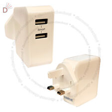 Universal Charger 2.4A Max 2-Port USB Smart IC Chip For All IPhone IPads UKDC