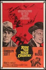 RIDE THE HIGH COUNTRY 1962 US 1 Sheet Exc condition Sam Peckinpah filmartgallery