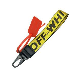 YELLOW Off White Inspired Industrial Keychain Lanyard - FREE SHIPPING!!! NY
