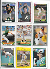 Collin Cowgill A's Rookie plus 8 more A's baseball cards