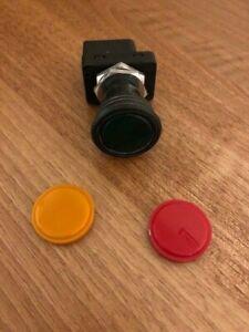 HELLA Illuminating PUSH PULL SWITCH  24V  6mm Spades (Green/Amber/Red)