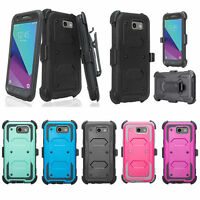 Samsung Galaxy S8, S8+ Plus, Rugged Holster Shell Combo Belt Clip Case Cover
