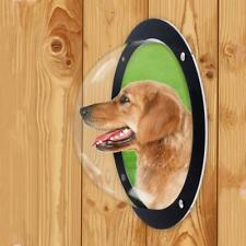 Dog Porthole Window Round Transparent for Fence Pet Peek Look Out Durable Dome