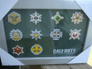 NEW Call of Duty Modern Warfare Prestige Edition Patch / Pin Set Framed CoD