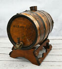 Authentic Antique Wood Oak Whiskey Wine Keg Barrel Copper Marked WO + 10 yr old
