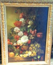 RUSSIAN STILL LIFE OIL PAINTING FLORALS FRAMED SIGNED STEPANOV SERGEI