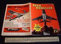 Vintage Aeromodeller Magazine (March 1959) Hungarian Alag X-4 Diesel