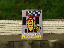 """Boy Cub Scouts Pinewood Derby Racer Embroidered Patch 3"""" x 2"""" Fleur De Lis"""