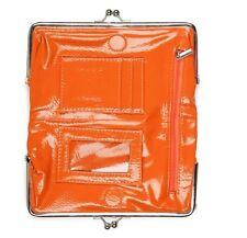 Studio 36 Saddle Clutch Wallet Glossy Orange