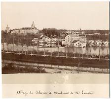 France, Abbaye de Solesmes Vintage print, France Tirage albuminé  14x19  1