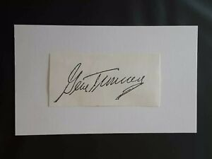 GENE TUNNEY HOF BOXER AUTOGRAPED SIGNED CUT SIGNATURE ON INDEX CARD 3X5 MINT!!