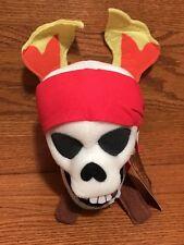 "Disney Sega Skull and Crossbones 10"" Plush Pirates of Caribbean Stuffed"