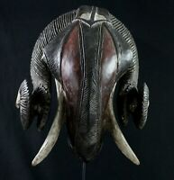 Art African - African RAM Mask - Awesome Mask Aries Baoulé - 35 CMS