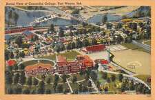 Fort Wayne Indiana Concordia College Aerial View Antique Postcard K20500