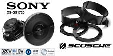 Sony XSGS1720 6.75 Speakers + 1 Pair Front Adapters For GM Models