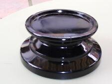 ANTIQUE PRESSED BLACK GLASS VASE TROPHY BOWL FIGURE DISPLAY BASE STAND B