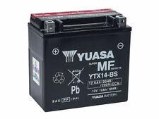 Yuasa YTX14-BS 12V 12Ah Batería para Motocicleta - Negra