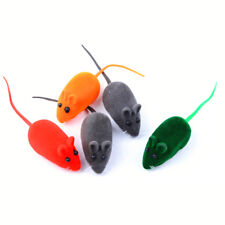 2pcs Cute Squeak Sound Funny Mouse Rat Playing Toy For Cat Kitten Pet Play HS
